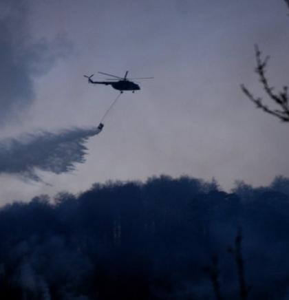 GORI BORAČKO! Dva helikoptera OS u akciji gašenja