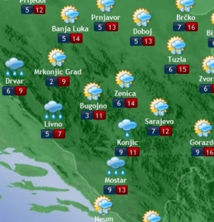 Prognoza vremena za Bosnu i Hercegovinu 13.3.2018.