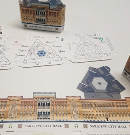 Interactive audio guide and 3D souvenir map of Sarajevo City Hall presented