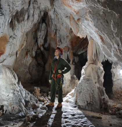 The world of speleology and caving