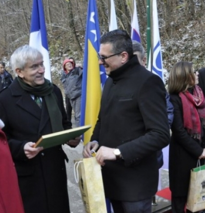 Ambassadors of France, Slovenia and OSCE plant their lime trees
