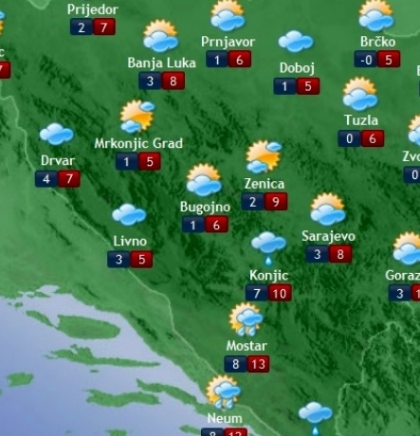 Prognoza vremena za Bosnu i Hercegovinu 21.12.2018