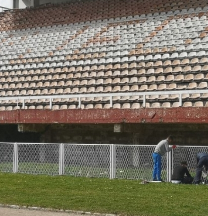 City Stadium in Bihać being renovated with the help of British Government
