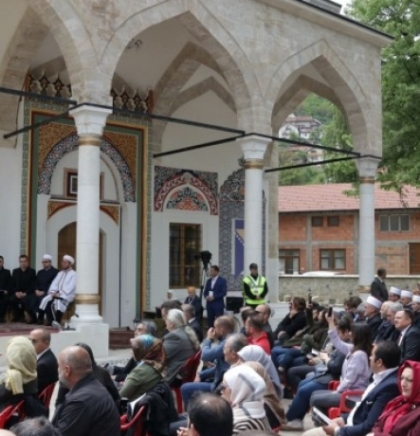 Rebuilt Aladža Mosque opens its doors to the faithful with a dignified ceremony