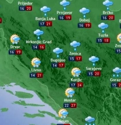 Prognoza vremena za Bosnu i Hercegovinu 10.7.2019