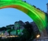 Mostar Old Bridge illuminated with the colors of Flower of Srebrenica