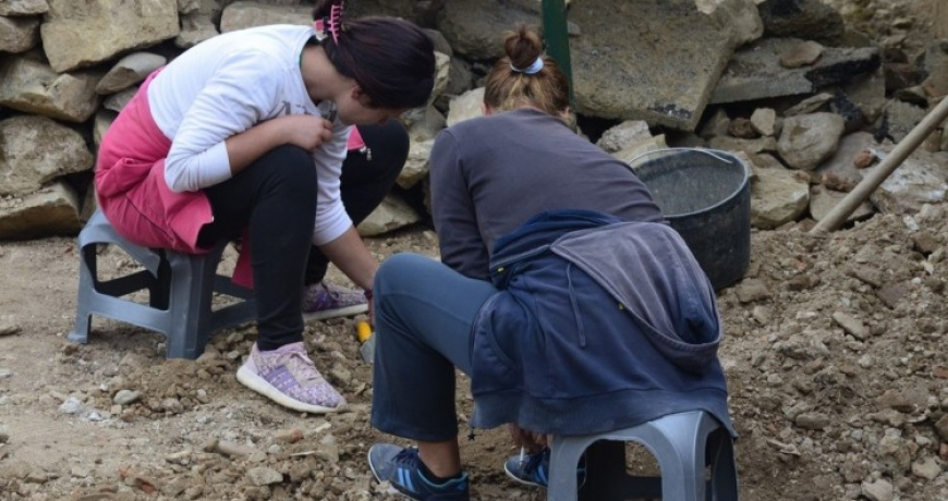 Archaeologists discovered parts of Roman mosaic in Skelani