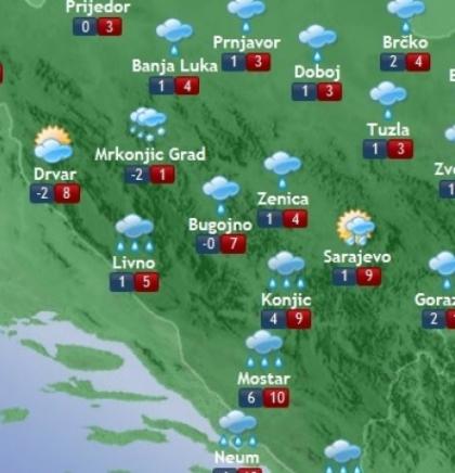 Prognoza vremena za Bosnu i Hercegovinu 12.12.2019