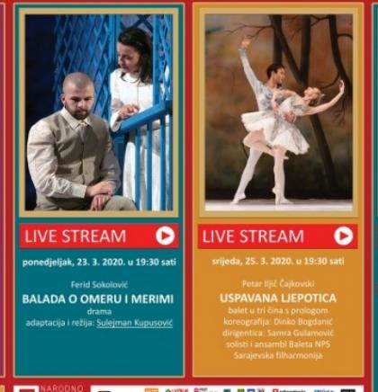 Predstave Narodnog pozorišta Sarajevo od sutra na YouTube kanalu