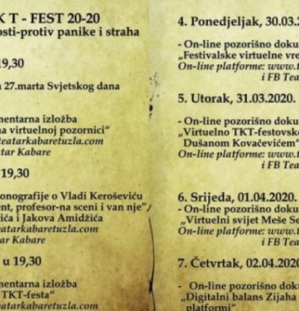 TKT online Fest - Kreacija TKT- festa na virtuelnoj pozornici