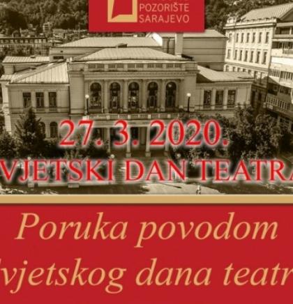 Narodno pozorište Sarajevo emituje online program za Svjetski dan pozorišta