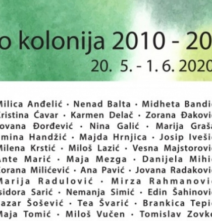 Otvorena virtualna izložba 'Eko kolonija 2010-2020'