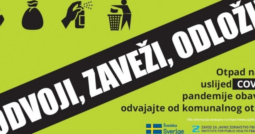 Švedska podržava BiH u postupanju s otpadom nastalim zbog pandemije