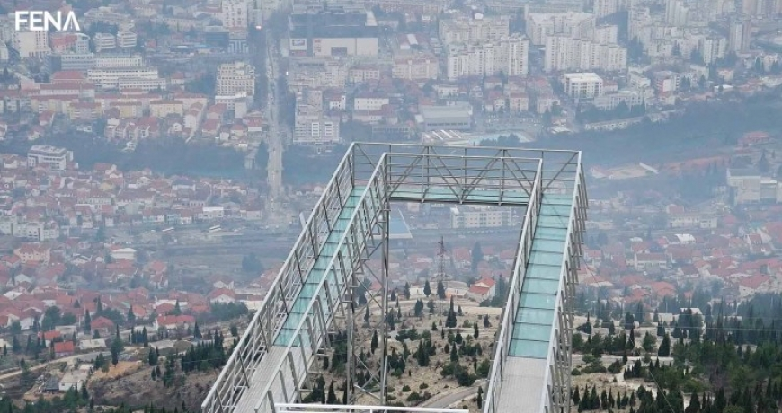 Staklena šetnica na Fortici nova turistička atrakcija Mostara (VIDEO)