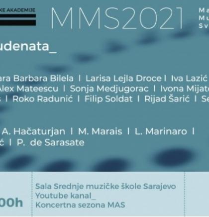Zajednički koncert studenata Muzičke akademije UNSA, danas u Sarajevu