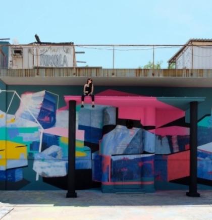 Oslikavanjem murala u OKC-u Abrašević počele aktivnosti Street Arts Festivala